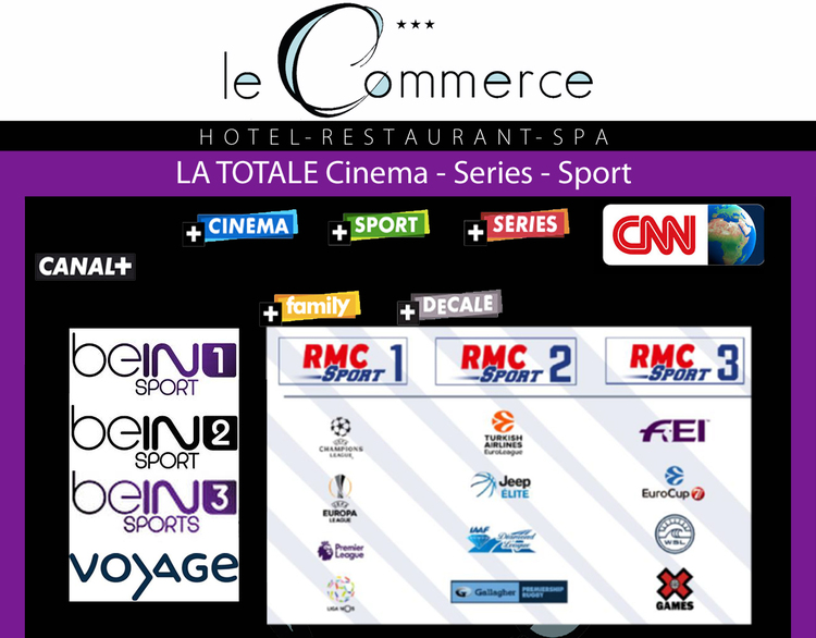 chaines TV 2017 Le Commerce